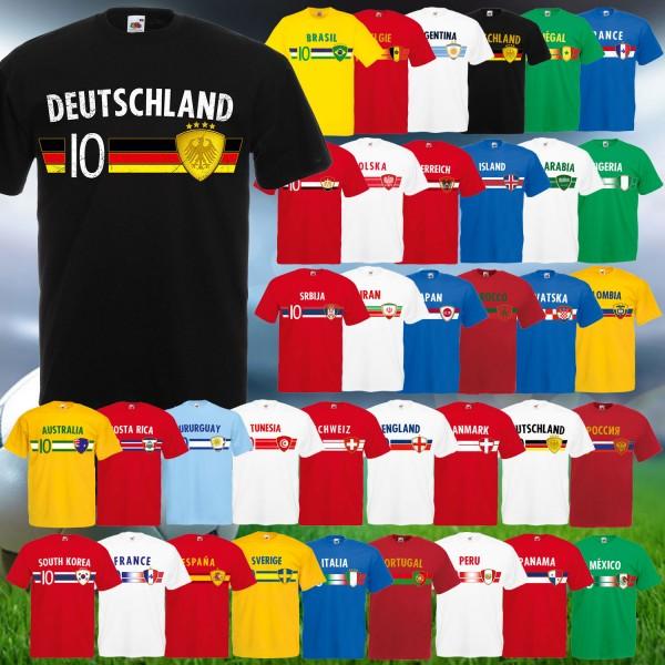 Fußball WM Unisex T-Shirt NR. 10