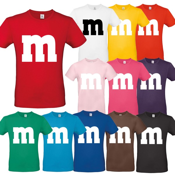 M&M T-Shirt Kostüm Unisex Herren Kinder