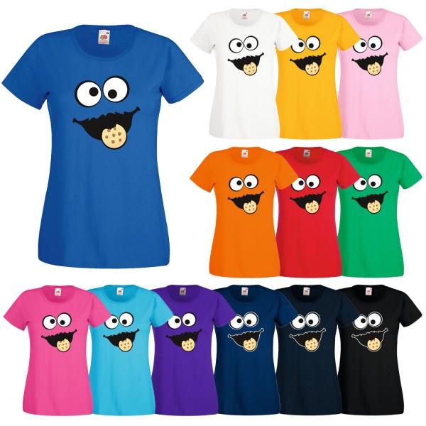 Kinder Mädchen T-Shirt Keks Monster