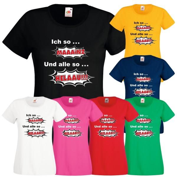 Damen Karneval & Fasching T-Shirt Mainz Helaau