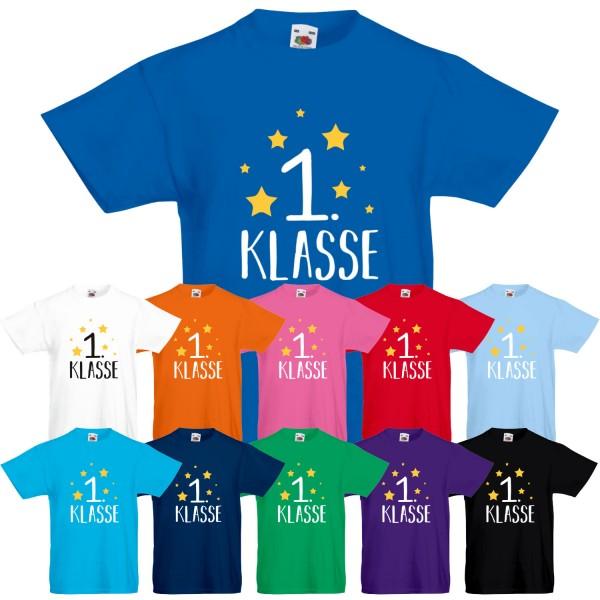 Unisex Kinder T-Shirt 1. Klasse
