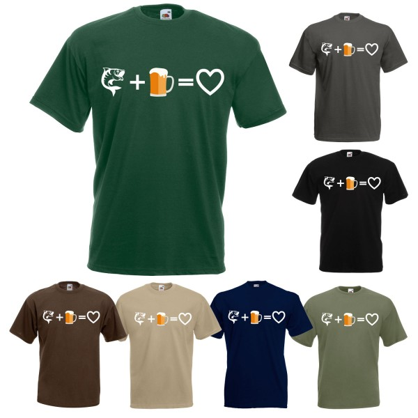 Angel Fun T-Shirt - Fisch+Bier=Herz