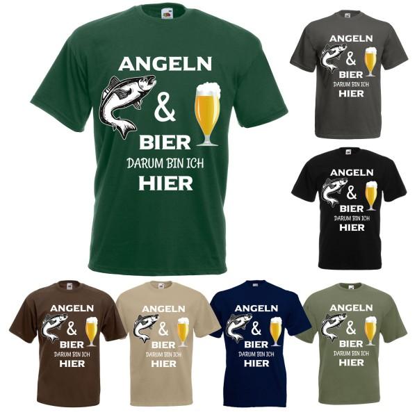Angeln und Bier - T-Shirt Herren
