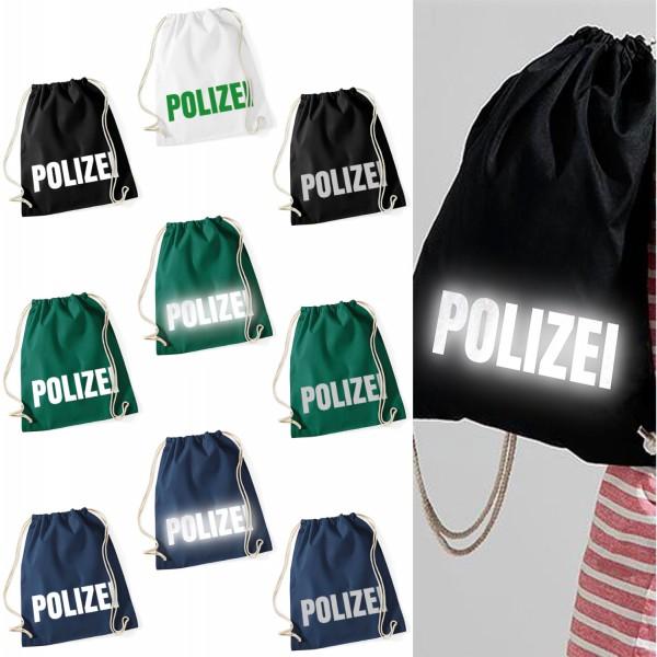 Baumwoll Turnbeutel - Polizei
