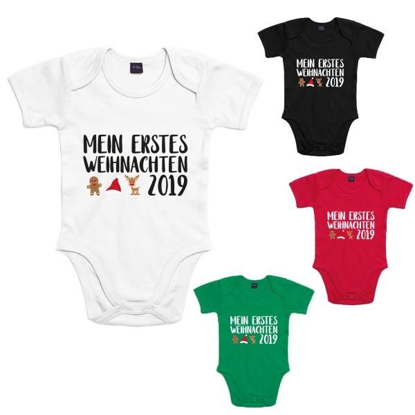 Mein erstes Weihnachten 2019 Baby-Body Winter Jungen und Mädchen