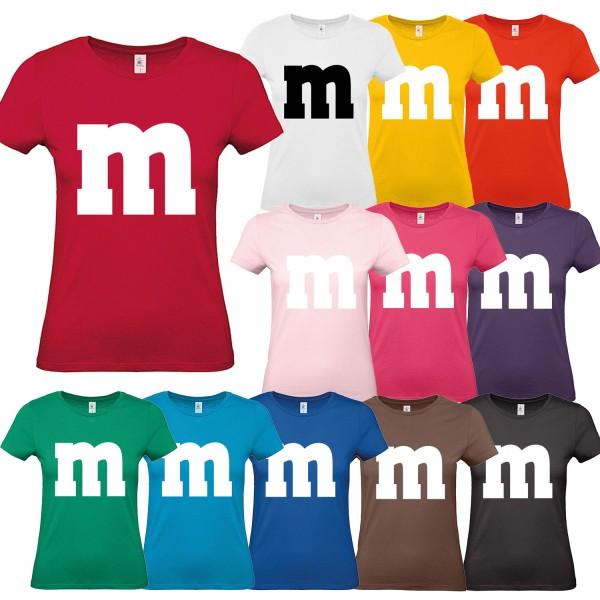 M&M Kostüm Damen T-Shirt