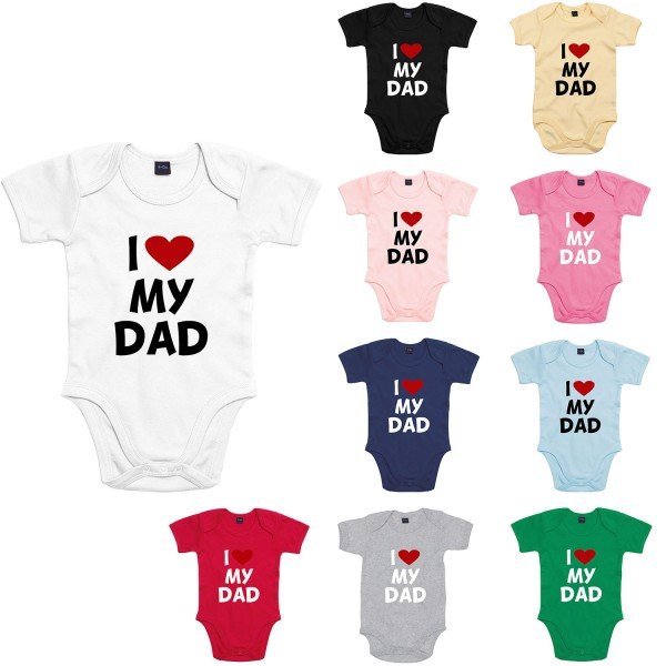 Baby Bodysuit mit Spruch I love my Dad