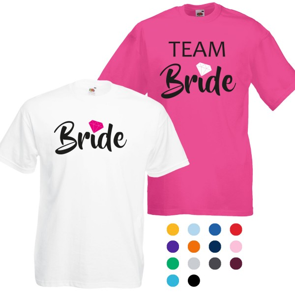 JGA Unisex T-Shirt Bride + Team Bride Diamant