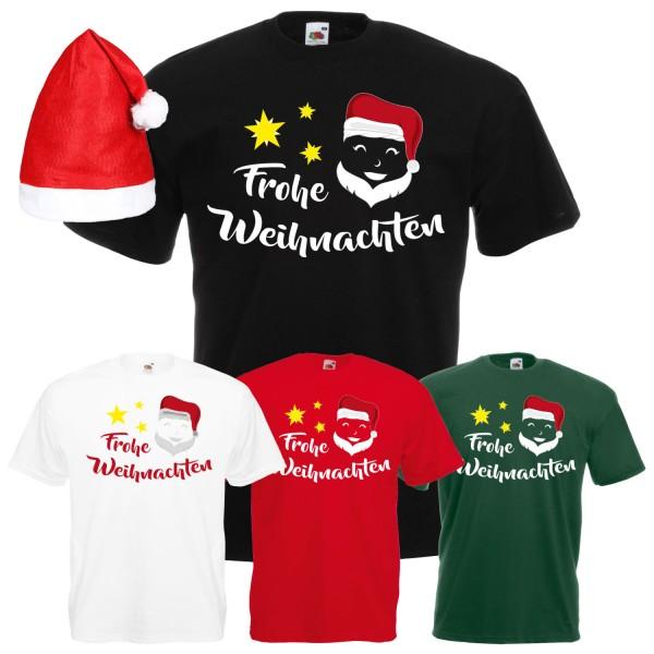 Frohe Weihnachten Weihnachtsmann T-Shirt Herren