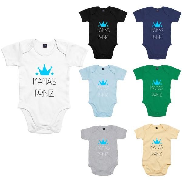 Baby Bodysuit mit Spruch Mamas Prinz