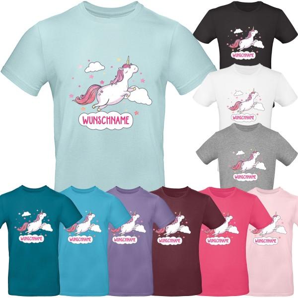 Unisex T-Shirt Einhorn Wolke mit Wunschname
