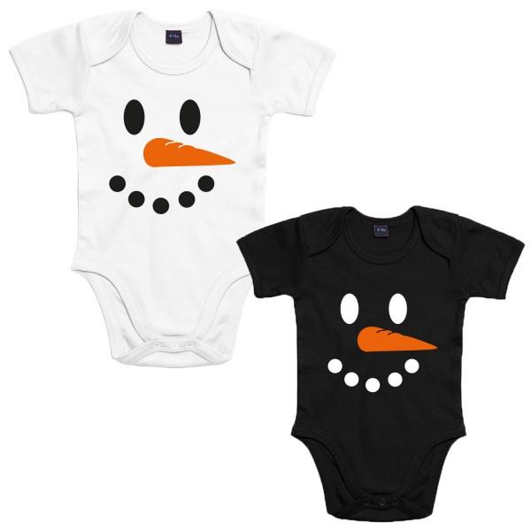 Schneemann Baby-Body Weihnachten Winter Jungen und Mädchen