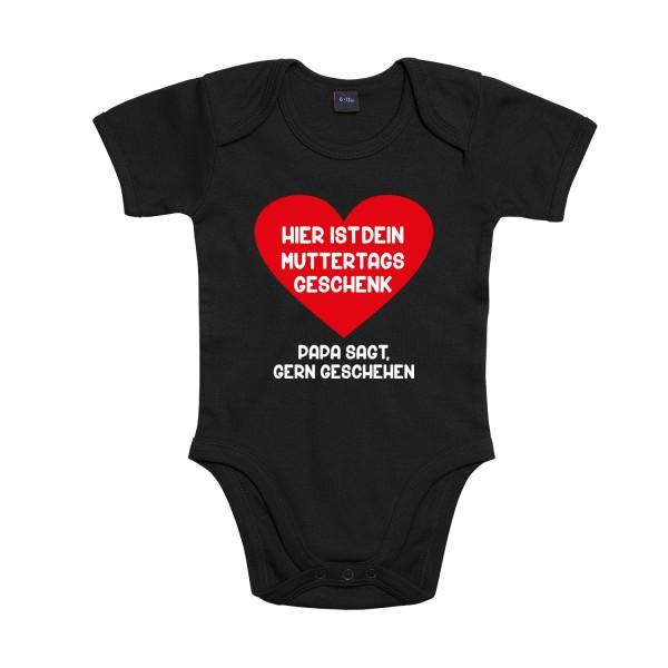 Baby Bodysuit mit Spruch Muttertagsgeschenk großes Herz