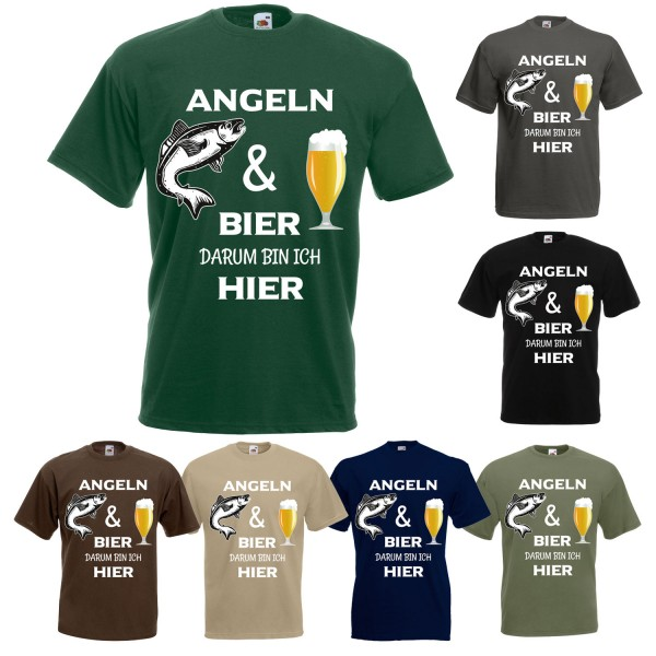 Angel Fun T-Shirt - Angeln und Bier