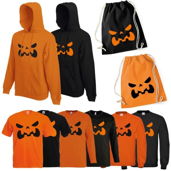 Shirt-Panda Herren Kostüm Kürbis Halloween Unisex Shirt mit Druck