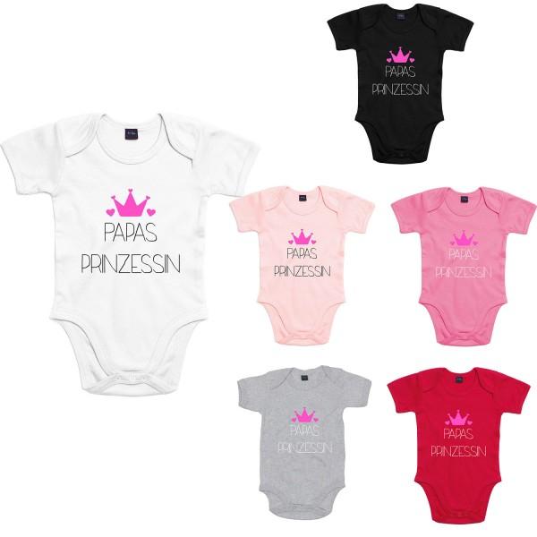 Baby Bodysuit mit Spruch Papas Prinzessin