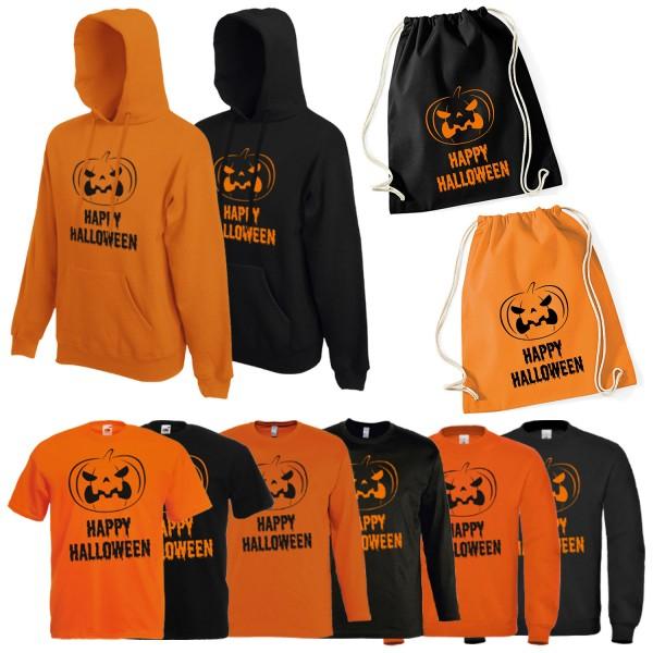Shirt-Panda Herren Kostüm Happy Halloween Unisex Shirt mit Druck