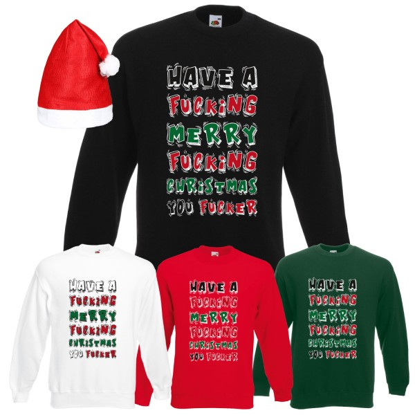 Have a Merry Fucking Christmas Graffiti Sweatshirt Herren