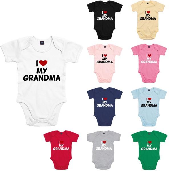 Baby Bodysuit mit Spruch I love my Grandma