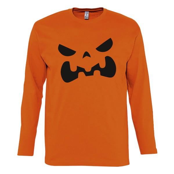 Herren Kostüm Kürbis Halloween Unisex Longsleeve