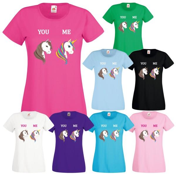 Einhorn Damen T-Shirt You Me