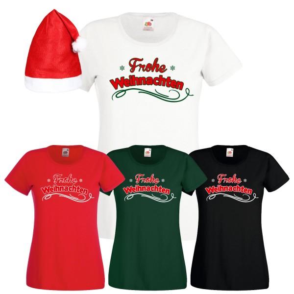 Frohe Weihnachten T-Shirt Damen