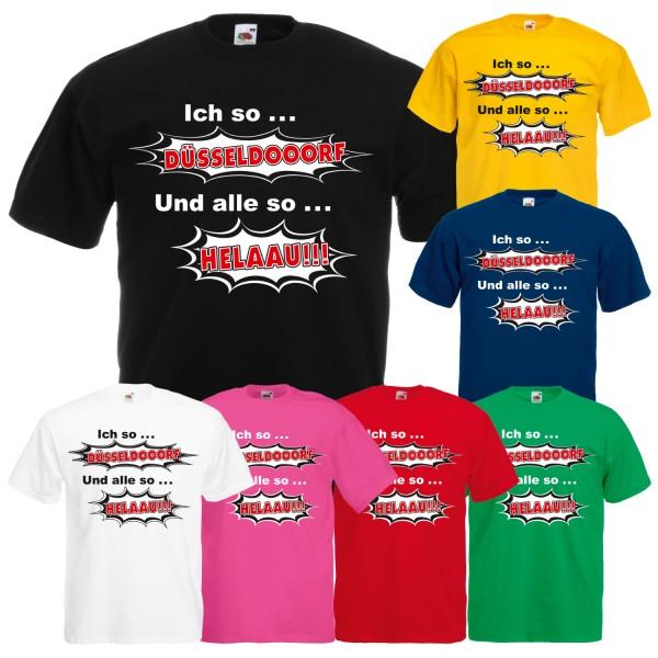 Herren Karneval & Fasching T-Shirt Düsseldorf Helau