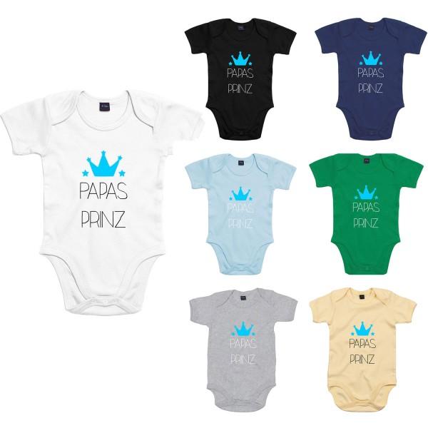 Baby Bodysuit mit Spruch Papas Prinz