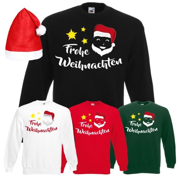 Frohe Weihnachten Weihnachtsmann Sweatshirt Herren