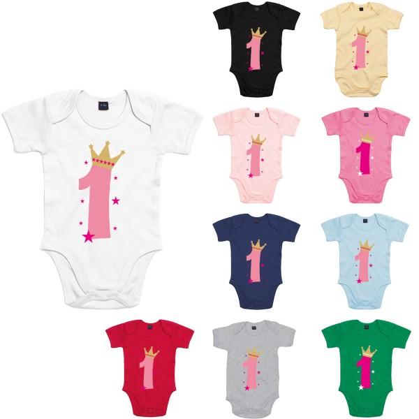 Baby Bodysuit mit Spruch 1. Geburtstag Mädchen