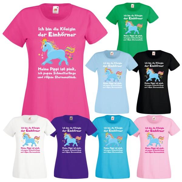 Einhorn Damen T-Shirt Königin der Einhörner