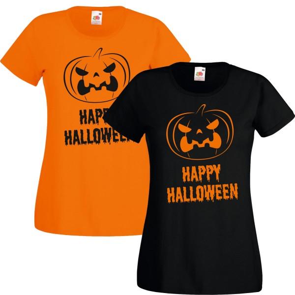 Damen Kostüm Happy Halloween Shirt