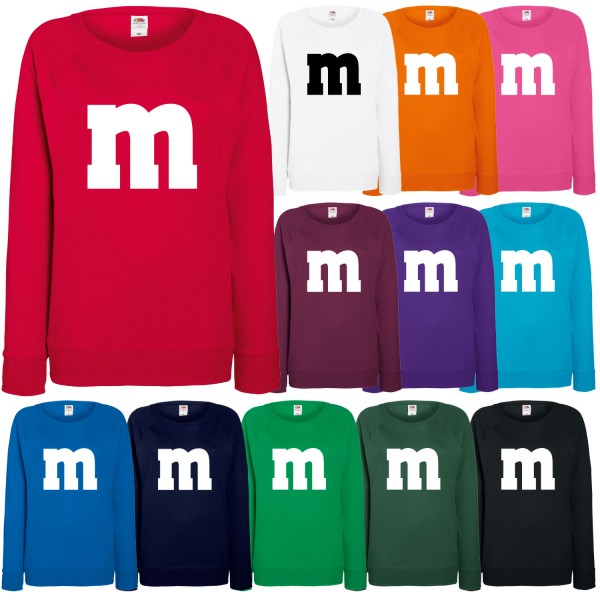 M&M Kostüm Damen Sweatshirt