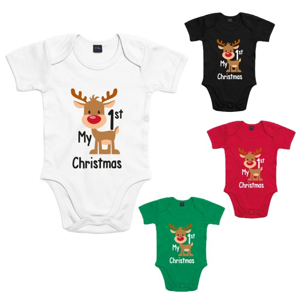 My 1st Christmas Baby-Body Weihnachten Winter Jungen und Mädchen