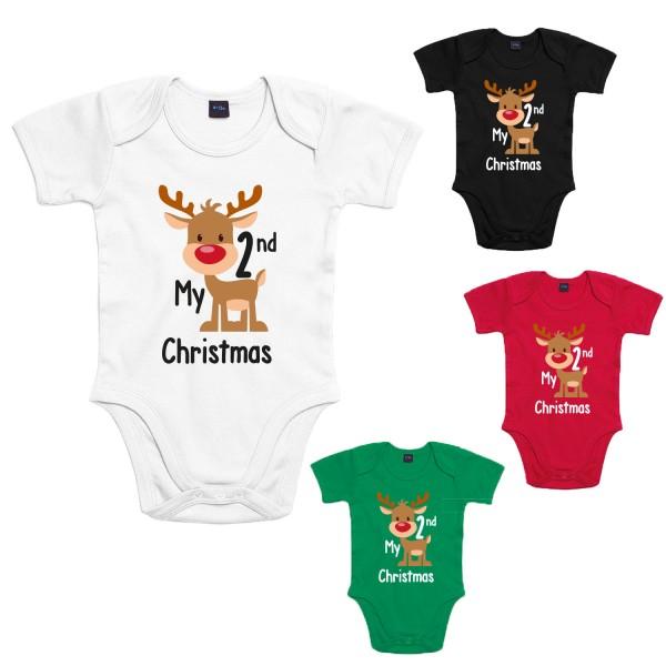 My 2nd Christmas Baby-Body Winter Jungen und Mädchen