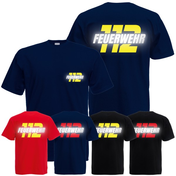 Herren T-Shirt Feuerwehr 112