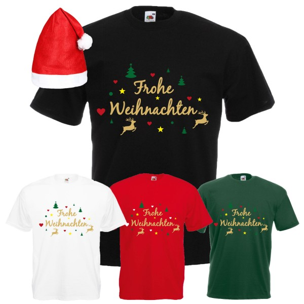 Frohe Weihnachten Rentier T-Shirt Herren