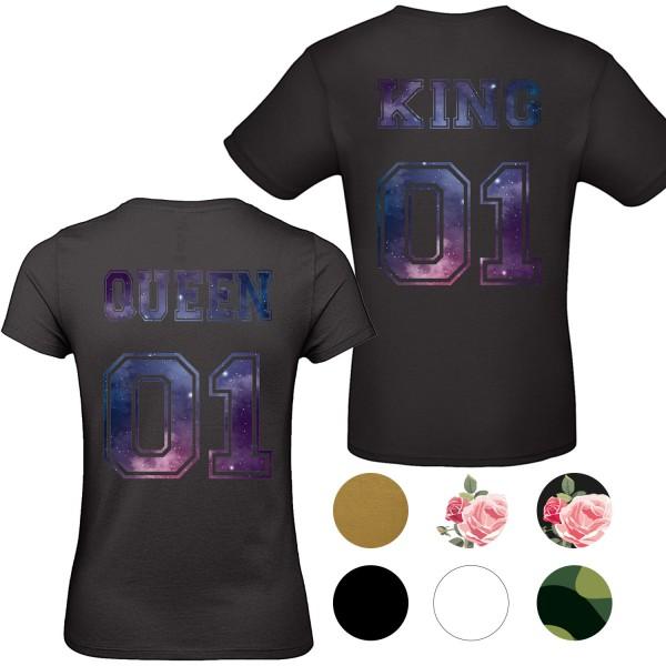 Damen & Herren T-Shirt - King & Queen - 01